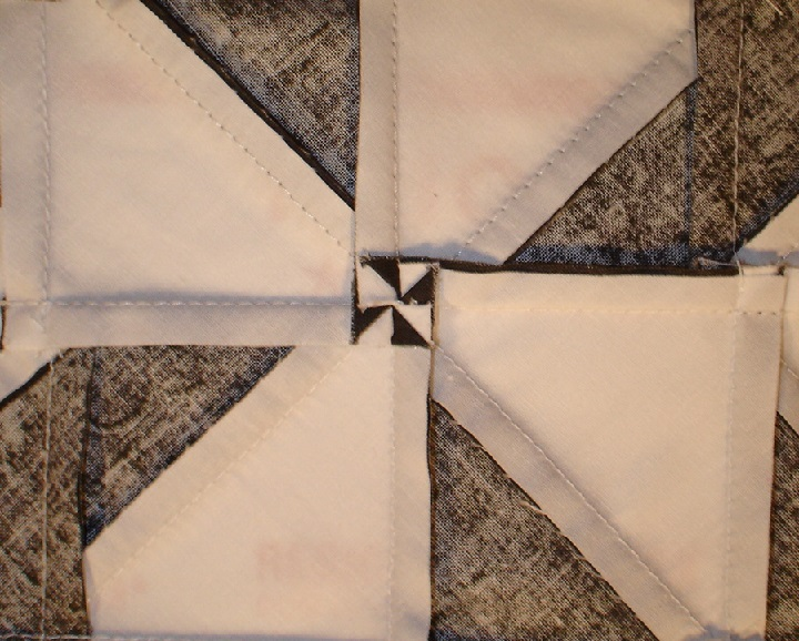 Half-square triangle jelly roll quilt challenge!