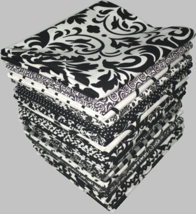 Black And White Fat Quarters 74