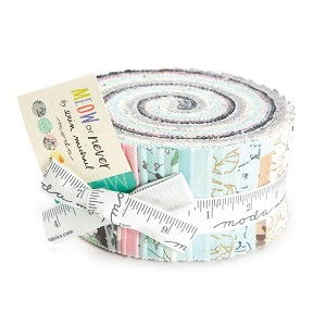 Meow Or Never Jelly Roll - by Moda - 40 Strips