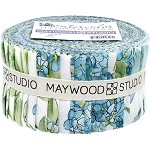 Watercolor Hydrangeas Roll - Maywood Studios - 40 Strips
