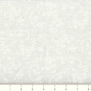 (2 yd) White - Tone on Tone Cotton Quilting Fabric - White Bouquet
