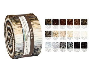 Robert Kaufman Artisan Batiks: Rings & Dots Roll-up - 40 Total Strips