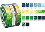 Robert Kaufman Artisan Batik Sunny Day Roll-up - 40 Strip Roll