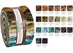Robert Kaufman Artisan Batik Wildlife Sanctuary Roll-up - 40 Strip Roll