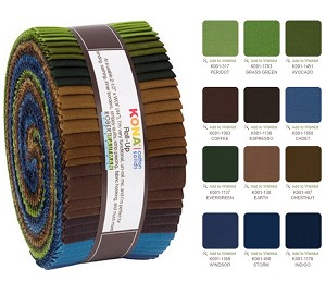 Robert Kaufman Kona Cotton Adventure Palette Roll-up - 40 Strip Roll