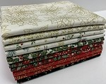 Andover Christmas Metallics Fat Quarter Bundle - 10 Fabrics, 10 Total Fat Quarters