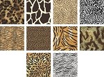 Charm Pack 5x5 Squares - Animal Prints - 40 5