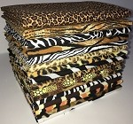 Animal Skin Prints Fat Quarter Bundle - 16 Fabrics, 16 Total Fat Quarters
