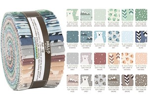 Robert Kaufman Arctic by Elizabeth Hartman Roll-up - 40 Strips