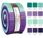 Robert Kaufman Kona Cotton Aurora Palette Roll-up - 40 Strip Roll