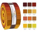 Robert Kaufman Kona Cotton Autumn Hues Palette Roll-up - 40 Strip Roll