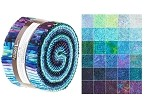 Robert Kaufman Artisan Batiks: Aviva Roll-up - 40 Total Strips
