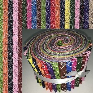 "Colorful Bandana Mix 2.5"" Roll - 20 Total Strips"