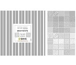 Charm Pack 5x5 Squares - Benartex Better Basics Grey/White - 40 5