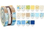 Robert Kaufman Beckford Terrace Sky Colorstory by Hyun Joo Lee Roll-up - 40 Strip Roll