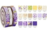 Robert Kaufman Beckford Terrace Wisteria Colorstory by Hyun Joo Lee Roll-up - 40 Strip Roll