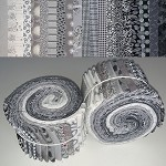 Limited Edition Benartex Gray/Silver Mix - 40 Strips Total, Set of 2 Rolls
