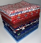 Benartex RWB Mix Fat Quarter Bundle - 20 Fabrics, 20 Total Fat Quarters