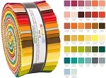 Robert Kaufman Kona Cotton Berry Season Coordinates Palette Curated by Elizabeth Hartman Roll-up - 40 Strip Roll