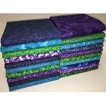 Half-yard Deep Ocean Bundle - 20 Fabrics,10 Total Yards