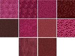 Charm Pack 5x5 Squares - Basic Colors Burgundy - 40 5