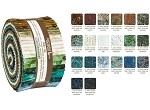 Robert Kaufman Artisan Batiks: By The Brook Roll-up - 40 Total Strips
