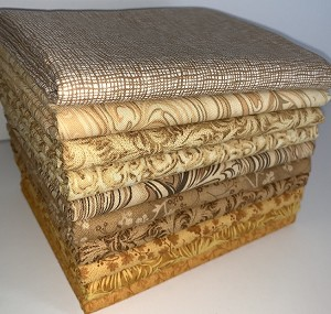 Caramel Half-yard Bundle - 10 Fabrics,5 Total Yards