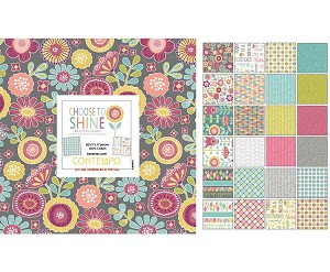 "Charm Pack 5x5 Squares - Benartex Choose To Shine - 40 5"" Squares"