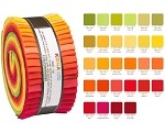 Robert Kaufman Kona Cotton Christa Watson Designer Palette Roll-up - 40 Strip Roll