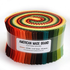 "American Made Brand - Autumn Solids - 40 2.5"" Strips"