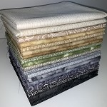 Print Neutrals - Cool Fat Quarter Bundle - 20 Fabrics, 20 Total Fat Quarters