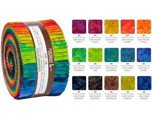 Robert Kaufman Artisan Batik Patina Handpaints Double Ombre Roll-up - 40 Strip Roll