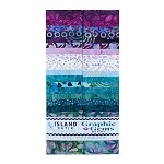 Island Batik - Graphic Gems - 20 Fabrics, 40 Total Strips