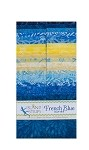 Island Batik - French Blue - 20 Fabrics, 40 Total Strips