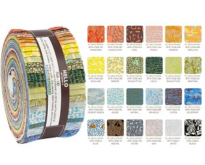 Robert Kaufman Gleaned by Carolyn Friedlander Roll-up - 40 Total Strips