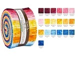 Robert Kaufman Artisan Batiks: Good Vibes Roll-up - 40 Total Strips