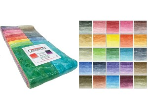 "Benartex Gradation Batiks Strip-pies - 40 2.5"" Strips Flat Pack"