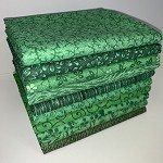 Basic Colors Green Half-yard Bundle - 10 Fabrics,5 Total Yards