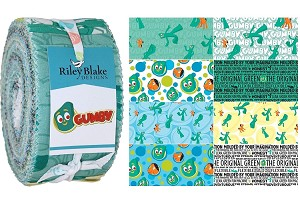 Gumby Rolie Polie for Riley Blake - 40 Strip Rolie Polie