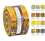 Robert Kaufman Artisan Batik Helsinki Gold Roll-up - 40 Strip Roll