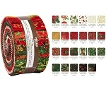 Robert Kaufman Holiday Flourish Holiday 2020 Roll-up - 40 Strip Roll
