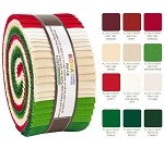 Robert Kaufman Kona Cotton Holiday Palette Roll-up - 40 Strip Roll