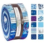 Robert Kaufman Holiday Flourish Peacock Roll-up - 40 Strip Roll