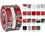 Robert Kaufman Holiday Flourish by Peggy O'Toole - Scarlet 2019 Roll-up - 40 Strip Roll