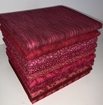 Burgundy Half-yard Bundle - 10 Fabrics,5 Total Yards