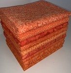 Orange Half-yard Bundle - 10 Fabrics,5 Total Yards