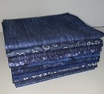 Basic Colors - Dark Blue Fat Quarter Bundle - 10 Fabrics, 10 Total Fat Quarters