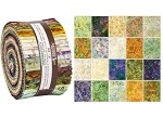 Robert Kaufman Artisan Batiks: Impressions of Tuscany Roll-up - 40 Total Strips