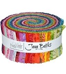 Java Batiks Freshwater Brights Roll - Maywood Studios - 40 Strips