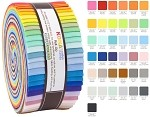 Robert Kaufman Kona Cotton 2017 New Colors Roll-up - 40 Strip Roll